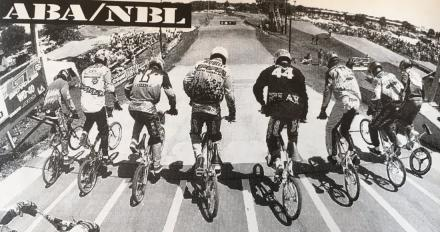 Oct '95 BMX Plus start gate at .JPG
